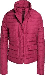 Woman Egina Quilted Shell Down Jacket Plum Size 46