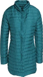 Woman Elare Quilted Shell Down Coat Petrol Size 40