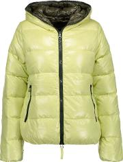 Woman Thia Quilted Shell Down Jacket Chartreuse