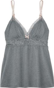Michaela Lace Trimmed Jersey Camisole