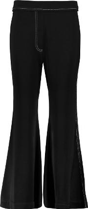Woman Dagger Debs Crepe Flared Pants Black Size 12