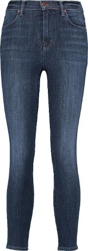 Woman Alana High Rise Cropped Skinny Jeans Mid Denim
