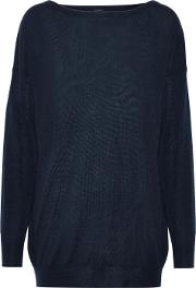 Woman Cashmere Sweater Midnight Blue Size M