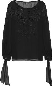 Sequin Embellished Chiffon Blouse