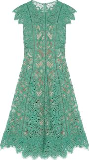 Woman Corded Lace Dress Mint