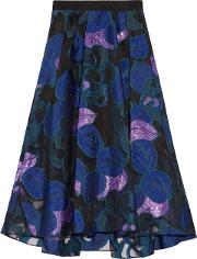 Woman Fil Coupe Skirt Blue Size 8