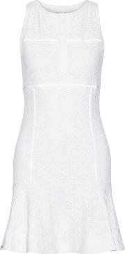 L'etoile Sport Woman Stretch Lace Tennis Dress White Size L