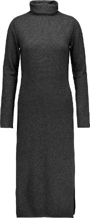 Woman Claudia Merino Wool And Cashmere Blend Turtleneck Sweater Dress Black