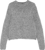 Woman Daphne Chunky Knit Sweater Gray