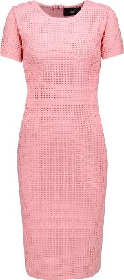 Woman Joyce Open Knit Dress Baby Pink Size L