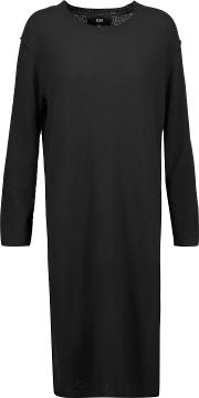 Woman Knox Merino Wool And Cashmere Blend Sweater Black