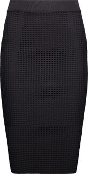 Woman Taylor Open Knit Midi Skirt Black