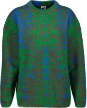 Mohair Blend Jacquard Sweater