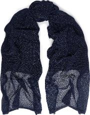 Open And Crochet Knit Scarf