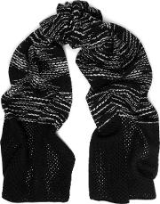Open And Crochet Knit Wool Scarf