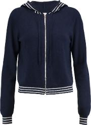 Woman Icaria Wool And Cashmere Blend Hooded Cardigan Midnight Blue Size L