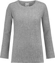 Woman Thassos Ribbed Wool And Cashmere Blend Sweater Gray Size L