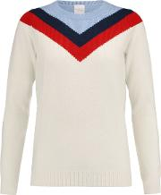 Woman Thilia Intarsia Wool And Cashmere Blend Sweater Ivory Size S