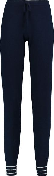 Woman Tinos Wool And Cashmere Blend Tapered Pants Navy Size M