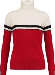 Woman Vidos Intarsia Wool And Cashmere Blend Turtleneck Sweater Ivory