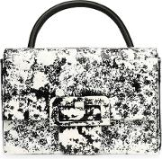 Coated Printed Faux Leather Shoulder Bag