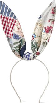 Heidi Patchwork Cotton Bunny Ears Headband