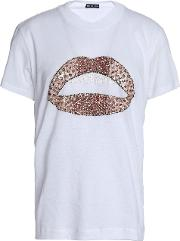 Embellished Cotton Jersey T Shirt
