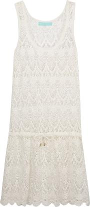 Woman Alison Cotton Lace Coverup White