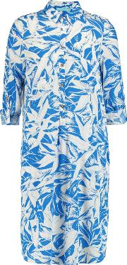 Woman Lois Printed Crepe Coverup Blue