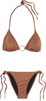 Woman Miami Triangle Bikini Copper