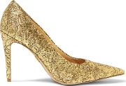 Woman Bromwell Embroidered Metallic Mesh Pumps Gold Size 36