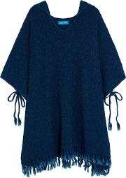 M.i.h Jeans Woman Malaquite Cotton Blend Hooded Poncho Storm Blue