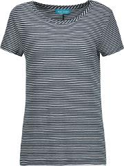 M.i.h Jeans Woman Nora Striped Cotton Jersey T Shirt Midnight Blue Size S