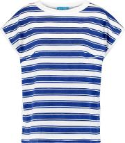 M.i.h Jeans Woman Striped Cotton T Shirt Blue
