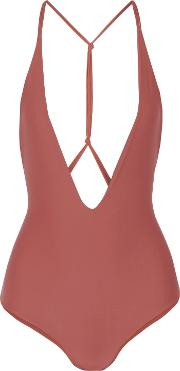 Woman Africa Swimsuit Antique Rose