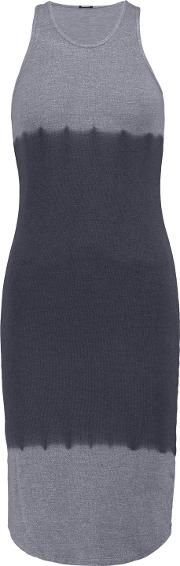 Woman Ombre Stretch Jersey Dress Gray