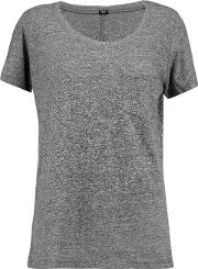 Woman Stretch Jersey T Shirt Anthracite Size M
