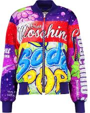 Woman Printed Padded Shell Jacket Red