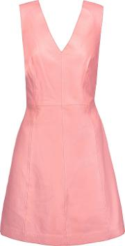 Woman Handley Leather Mini Dress Pink