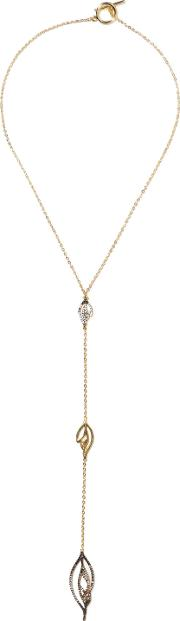 Woman Gimmer Gold Tone Crystal Necklace Gold