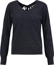 N.peal Woman Cashmere Sweater Navy Size Xl