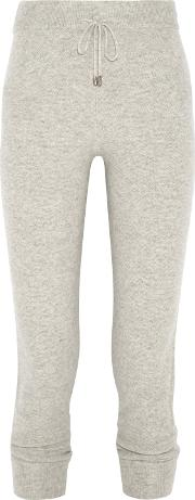 N.peal Woman Cashmere Track Pants Light Gray Size S