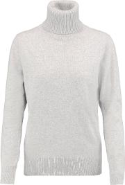N.peal Woman Cashmere Turtleneck Sweater Light Gray Size M
