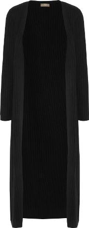 N.peal Woman Ribbed Cashmere Cardigan Black Size M