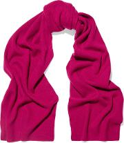 N.peal Woman Ribbed Cashmere Scarf Plum Size Onesize