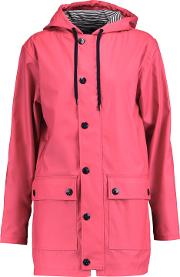 Woman Shell Hooded Coat Pink