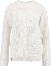 Woman Cotton, Cashmere And Wool Blend Sweater White