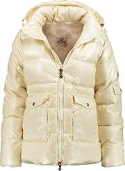 Woman Authentic Quilted Shell Down Jacket Ivory
