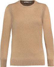 Woman Wool And Cashmere Blend Sweater Camel Size L