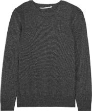 Woman Wool And Cashmere Blend Sweater Charcoal
